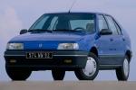 Renault 19 Стекло внешнего зеркала с основанием