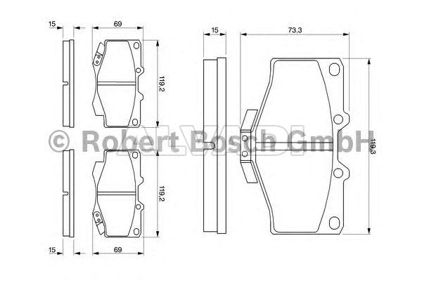 Brake Pads Set fits TOYOTA LANDCRUISER Front 04465YZZAF 0446560030 0446535140