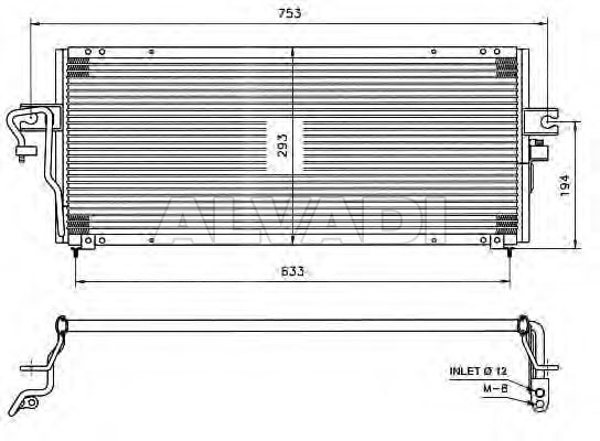AC condenser 921102M112 for NISSAN ALMERA (N15) on
